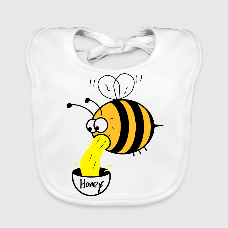 making of honey - bee :-) Accesorios - Babero ecológico bebé