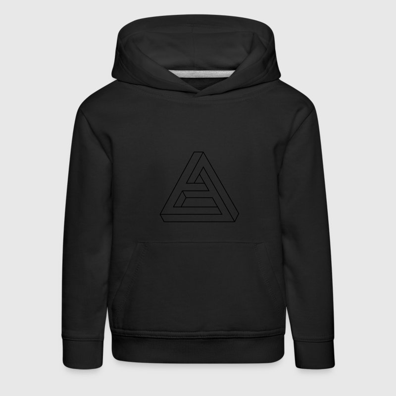 Illusion optique - Figure Impossible - triangle Sweats - Pull à capuche Premium Enfant