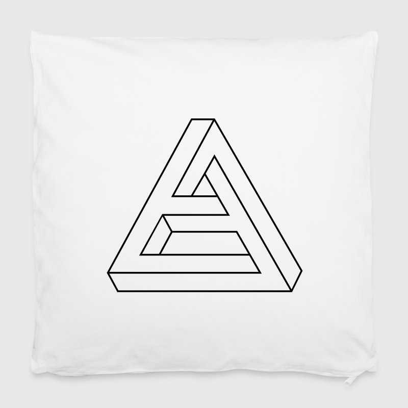 Optical Illusion -  Impossible figure - Triangle Other - Pillowcase 40 x 40 cm