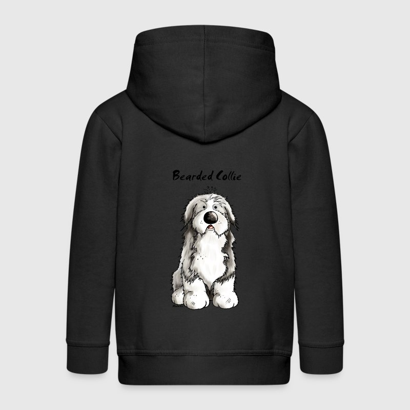 Mignon Bearded Collie -  Colley Barbu Sweats - Veste à capuche Premium Enfant