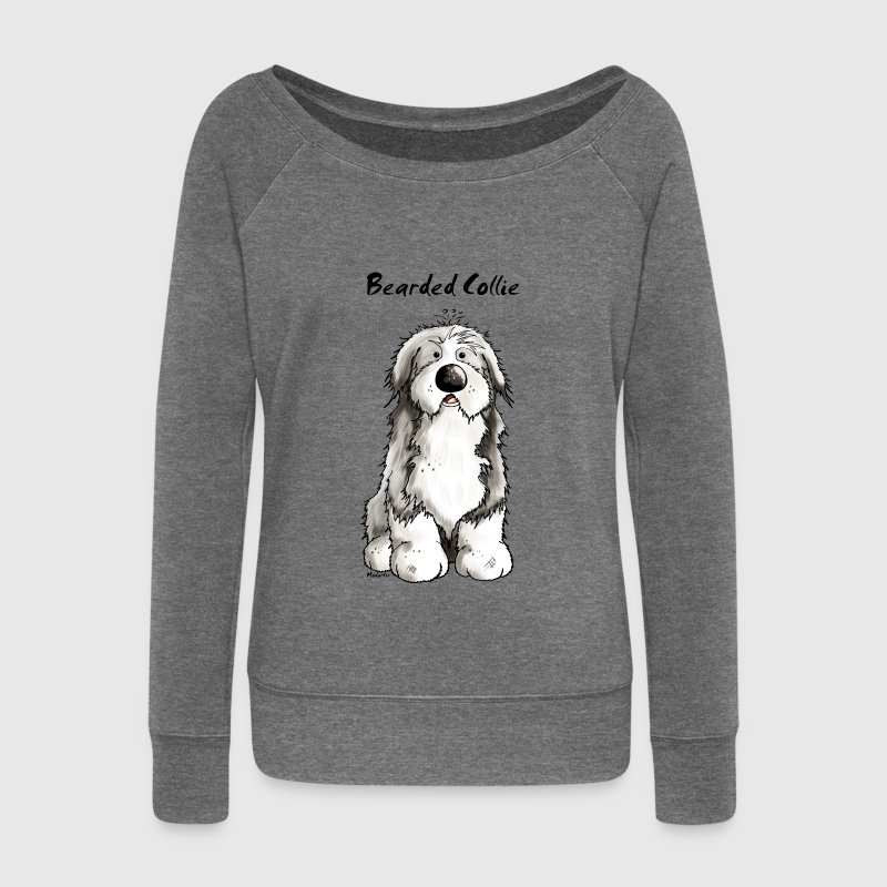 Mignon Bearded Collie -  Colley Barbu Sweat-shirts - Pull Femme col bateau de Bella