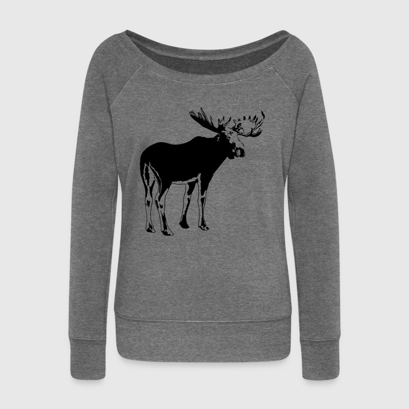 élan -  moose - elk - hunting - hunter Sweat-shirts - Pull Femme col bateau de Bella