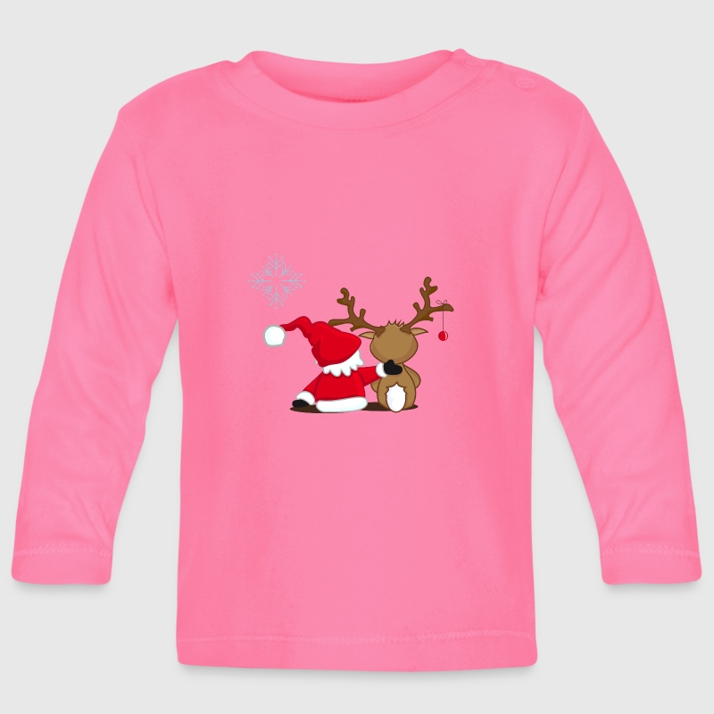 Santa Claus and reindeer Long Sleeve Shirts - Baby Long Sleeve T-Shirt