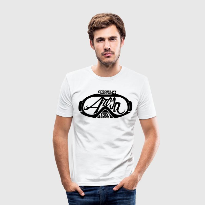 Arosarote Brille T-Shirts - Männer Slim Fit T-Shirt
