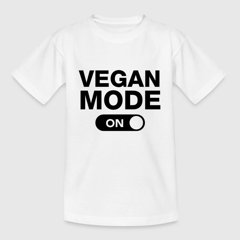 Vegan Mode (On) Shirts - Teenage T-shirt