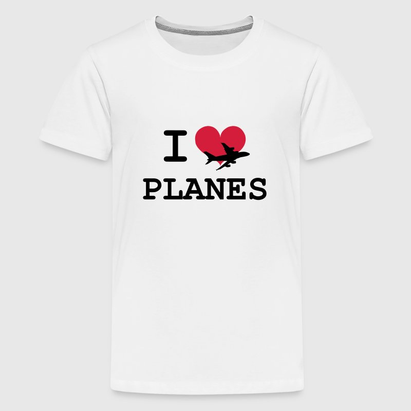 I Love Planes [Pilot] Shirts - Teenage Premium T-Shirt