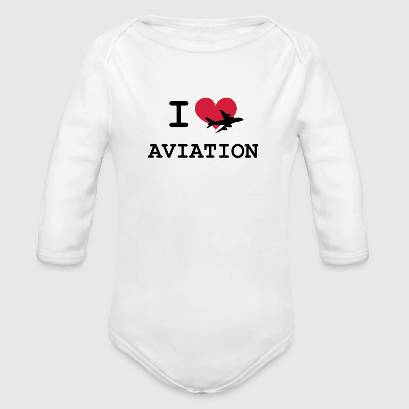 I Love Aviation Sweats - Body bébé bio manches longues