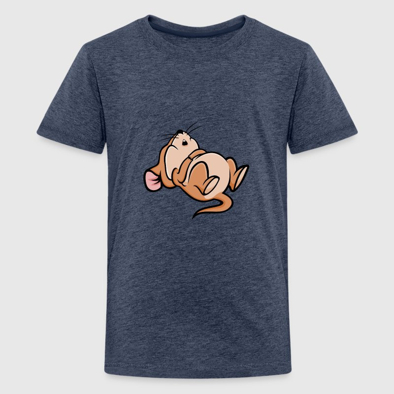 Sleeping Mouse Shirts - Teenage Premium T-Shirt