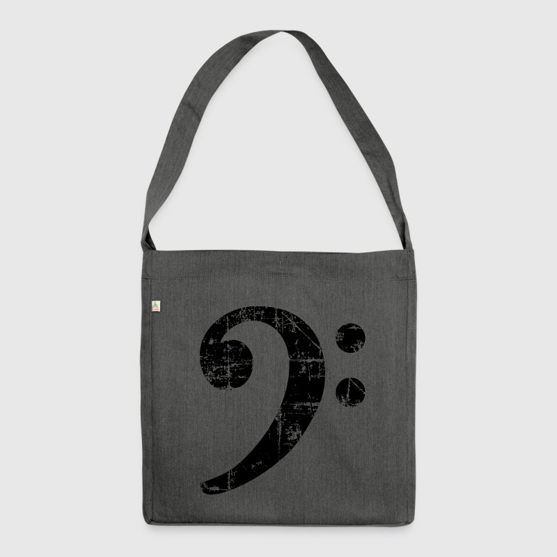 Bass Clef Vintage Music Design Bags & Backpacks - Shoulder Bag made from recycled material