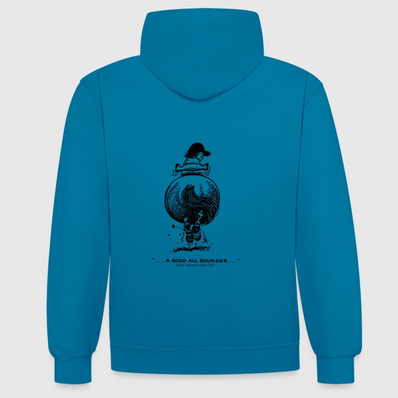 PonyGalopp Thelwell Cartoon - Contrast Colour Hoodie