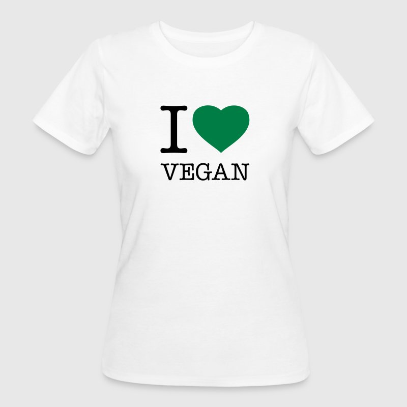 I LOVE VEGAN T-shirts - Vrouwen Bio-T-shirt