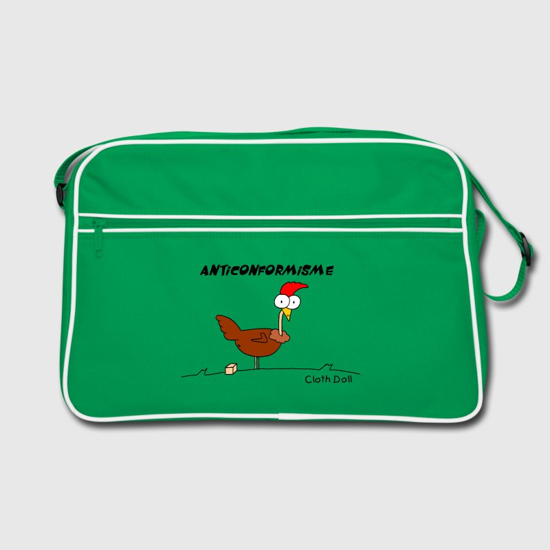 sac vintage poule anticonformiste - Sac Retro
