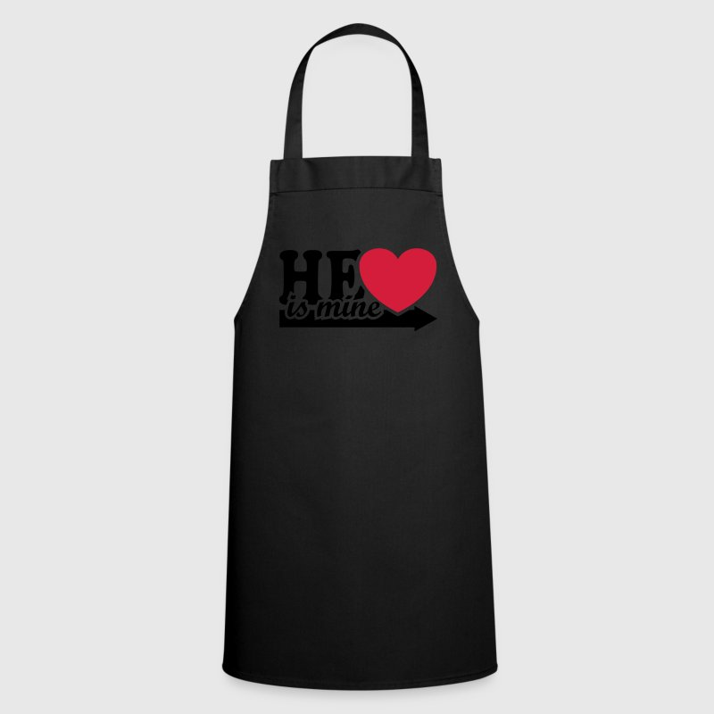 He is mine I love you my Boyfriend Man Husband Boy  Aprons - Cooking Apron