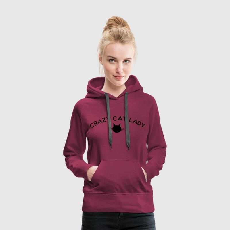 crazy cat lady Pullover & Hoodies - Frauen Premium Hoodie