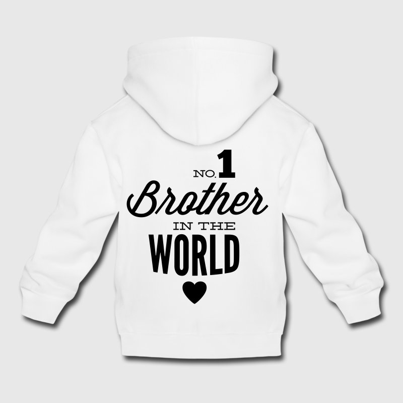 no1 brother of the world Pullover & Hoodies - Kinder Premium Hoodie