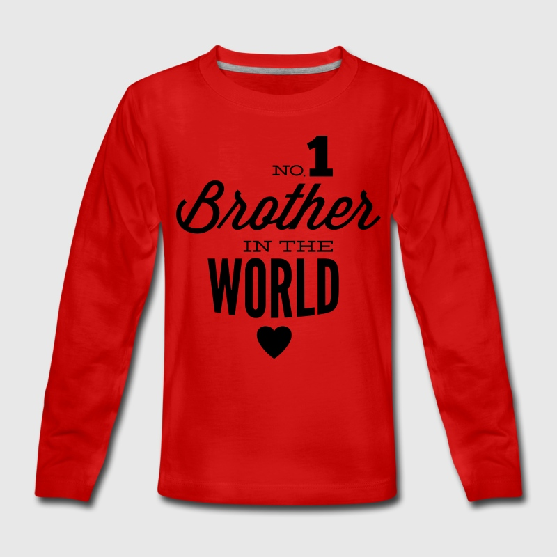 no1 brother of the world Manches longues - T-shirt manches longues Premium Ado