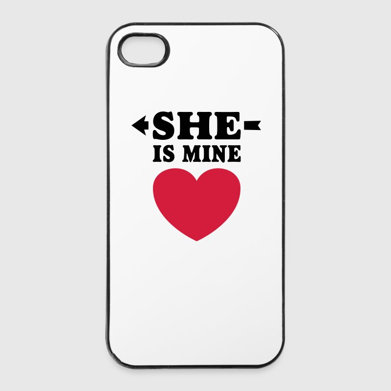 She is Mine I love you my Girlfriend Freundin Girl Phone & Tablet Cases - iPhone 4/4s Hard Case