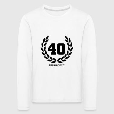 suchbegriff 39 rubinhochzeit 39 geschenke online bestellen spreadshirt. Black Bedroom Furniture Sets. Home Design Ideas