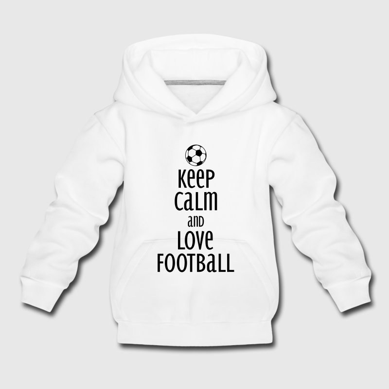 keep calm and love football Hoodies - Kids' Premium Hoodie