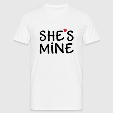 She's Mine I love you my Girlfriend Je t'aime Sweat-shirts - T-shirt Homme