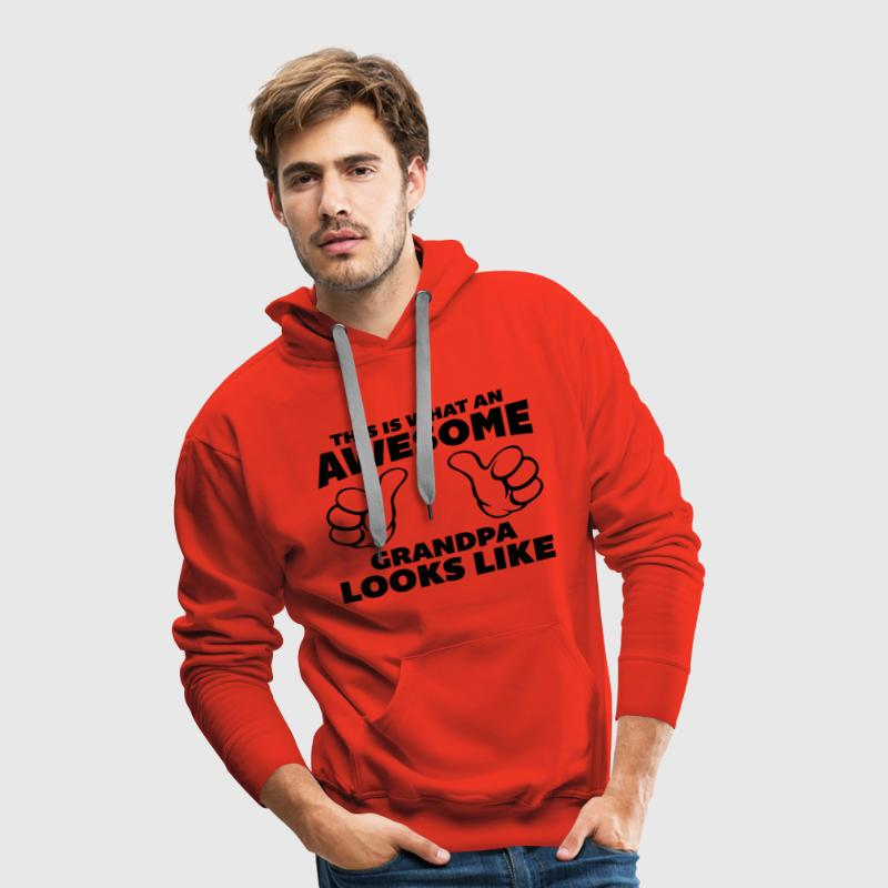 Awesome Grandpa Looks Like Sweaters - Mannen Premium hoodie