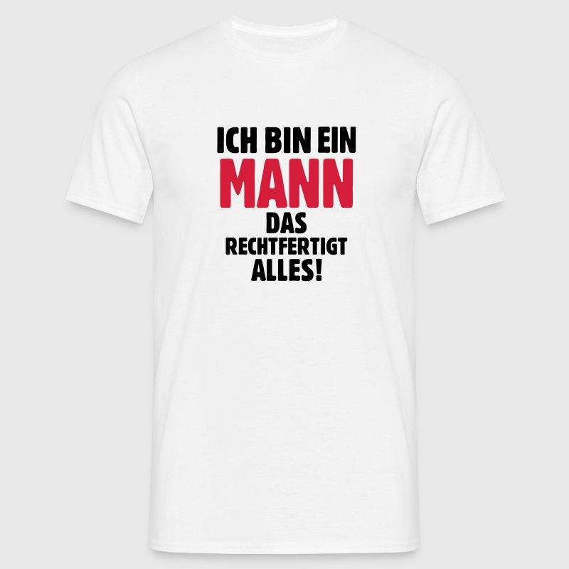 Mann Männer Männlich lustiger Spruch Sprüche T Shirt