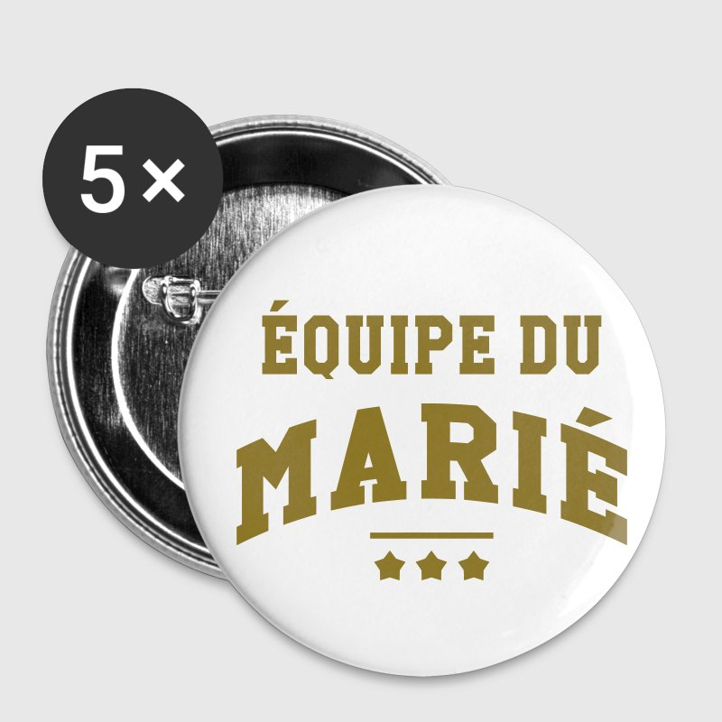 Equipe du Marié Badges - Badge moyen 32 mm