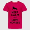 Keep Calm And Love Horses Shirts - Teenage Premium T-Shirt