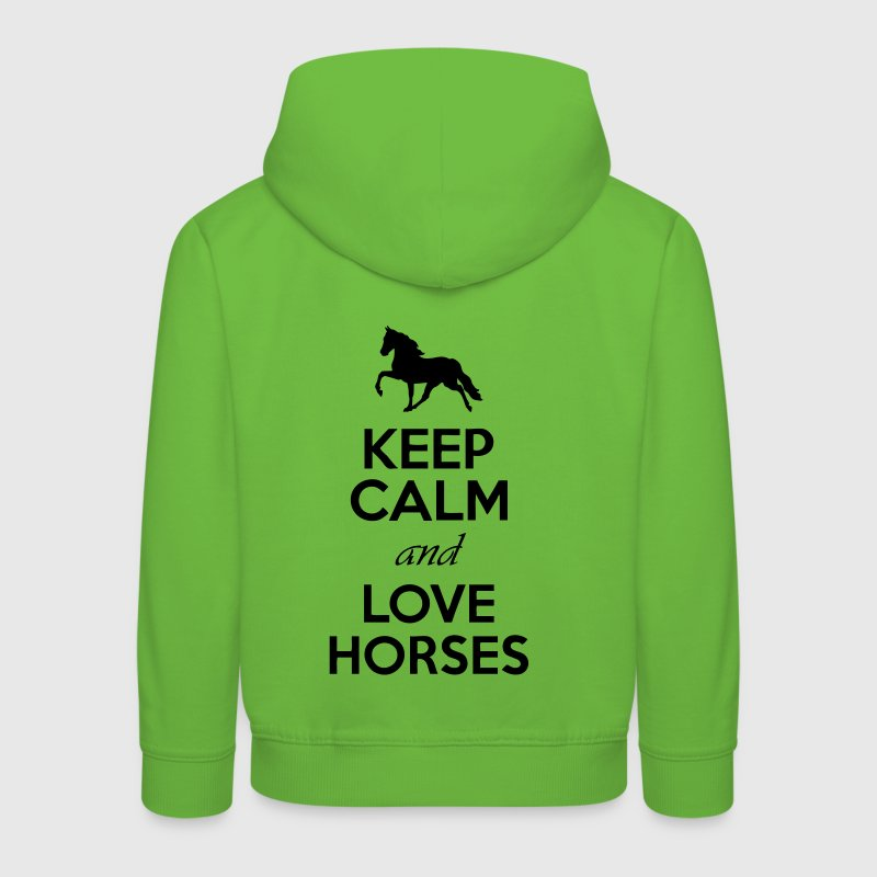 Keep Calm And Love Horses Hoodies - Kids' Premium Hoodie