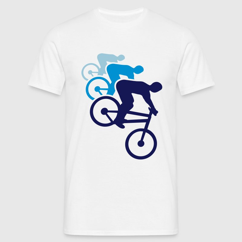 cykel bike Biker mountain biking cykeltur T-shirts - Herre-T-shirt