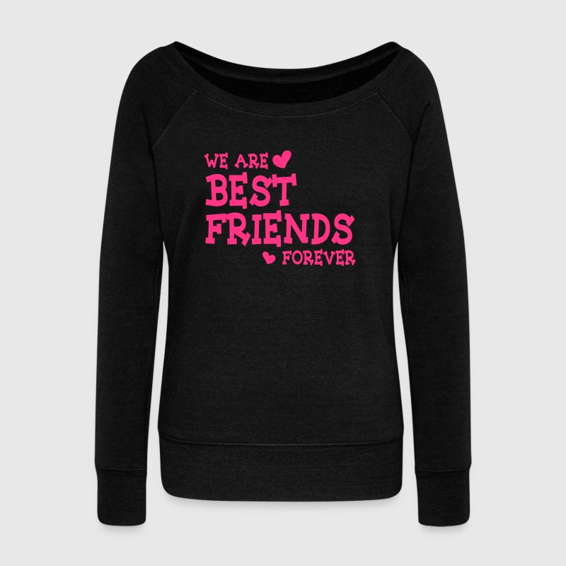 we are best friends forever ii 1c Sudaderas - Sudadera con escote drapeado mujer