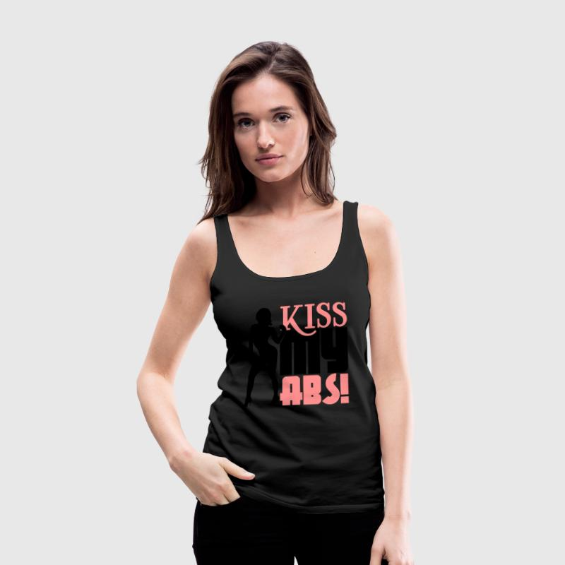 Kiss my abs Top - Canotta premium da donna