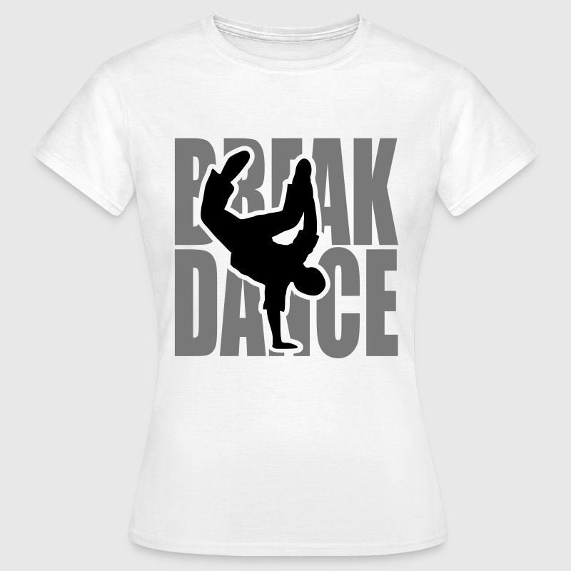 Breakdance Dancer Moves Freeze Clipart Music Dance T-Shirts - Women's T-Shirt