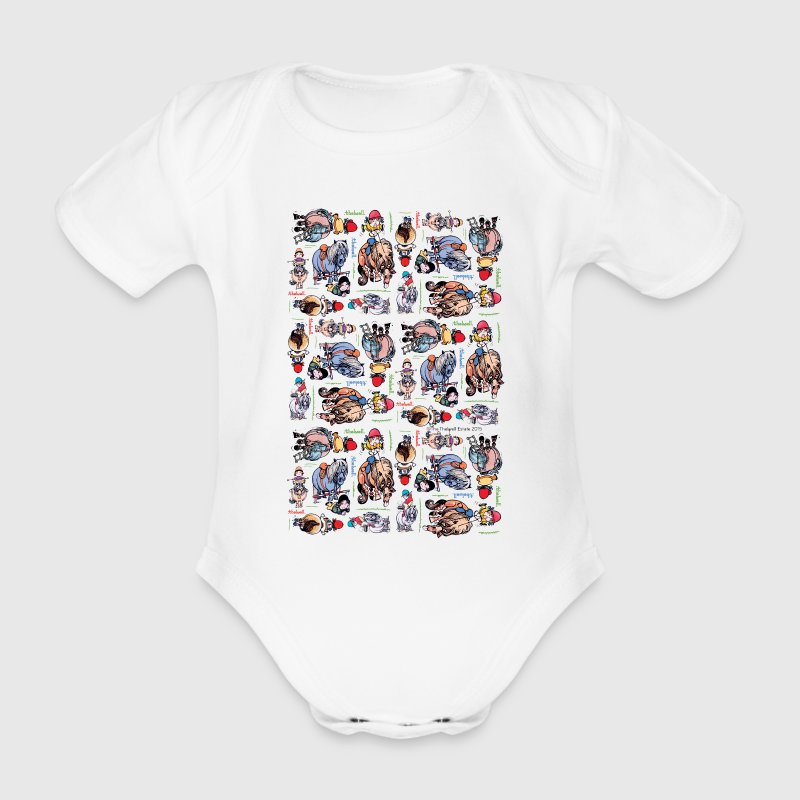 Pony cartoons Thelwell Cartoon Shirts - Baby bio-rompertje met korte mouwen