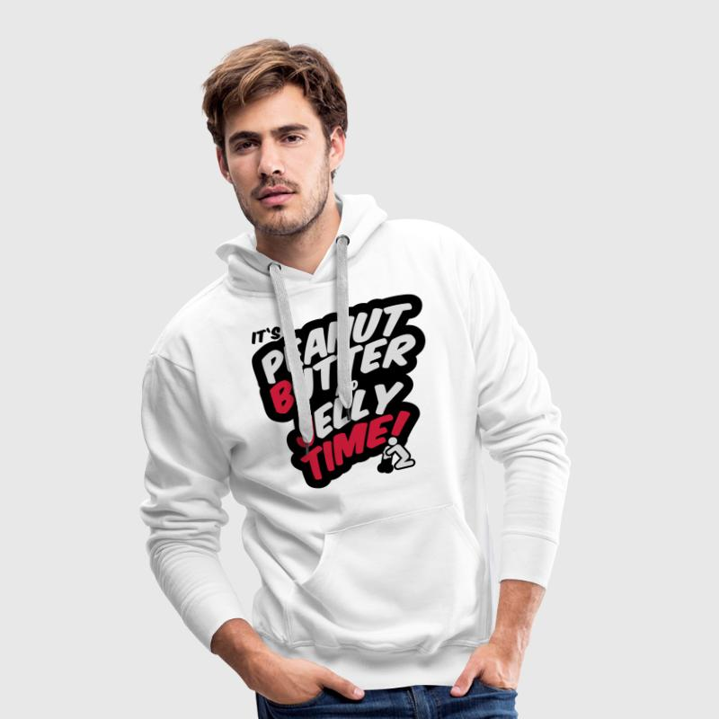 Peanut butter and jelly time, blowjob Sweaters - Mannen Premium hoodie