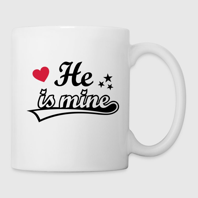 He's mine I love my Boyfriend. Valentine's Day  Mugs & Drinkware - Mug