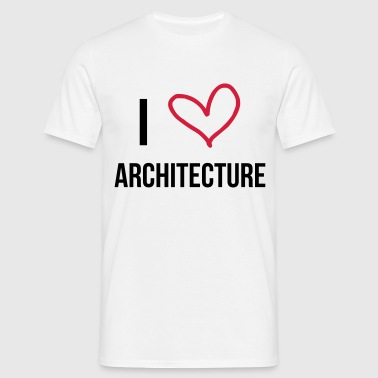 I Love Architecture  Aprons - Men's T-Shirt