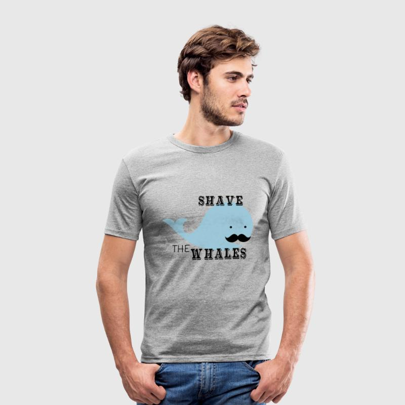 Shave The Whales - Männer Slim Fit T-Shirt