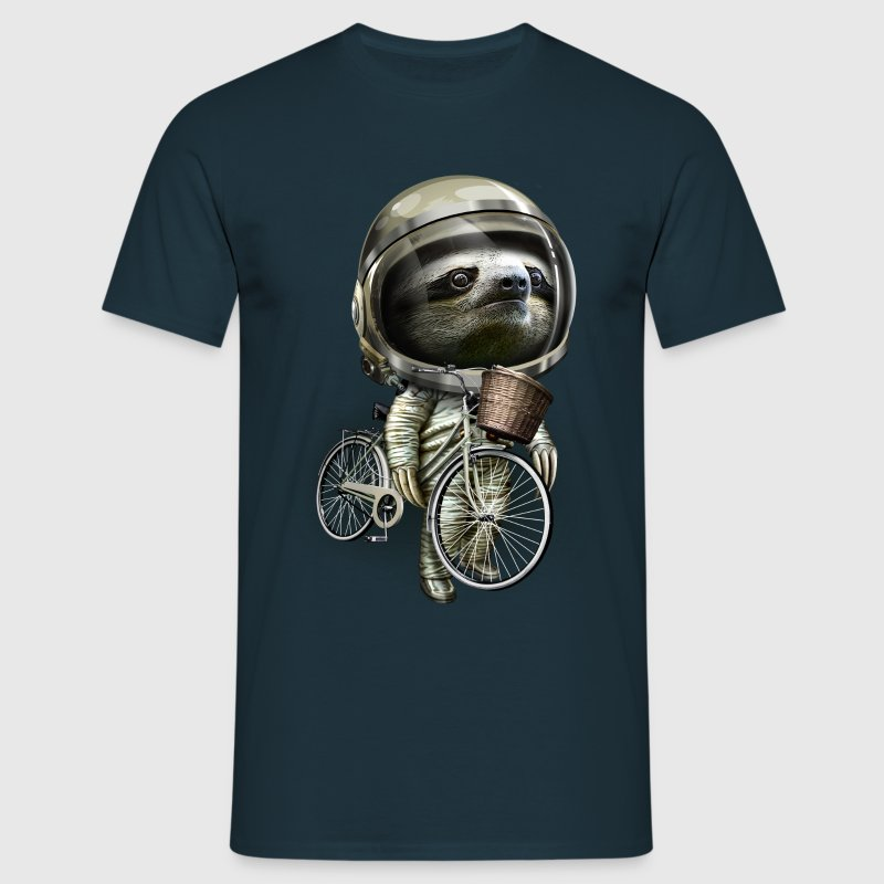 Navy WITH MY BIKE ALONG T-shirts - Mannen T-shirt
