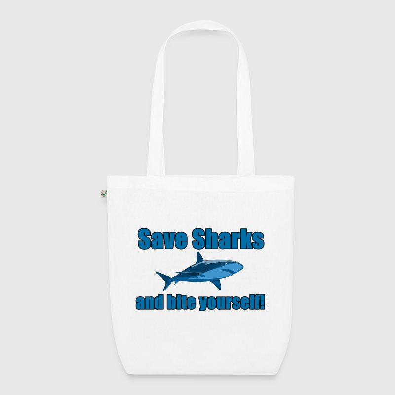 Save Sharks and bite yourself! - EarthPositive Tote Bag
