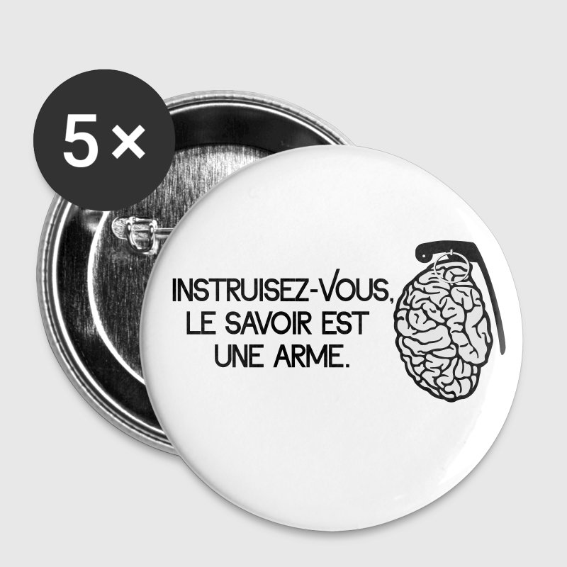 Le savoir est une arme - knowledge is a weapon Buttons - Buttons medium 32 mm