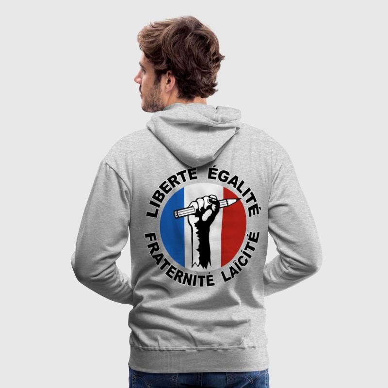 France liberté expression presse 12 Sweat-shirts - Sweat-shirt à capuche Premium pour hommes