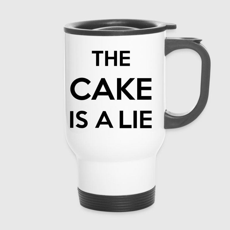 The Cake Is A Lie Bouteilles et Tasses - Mug thermos