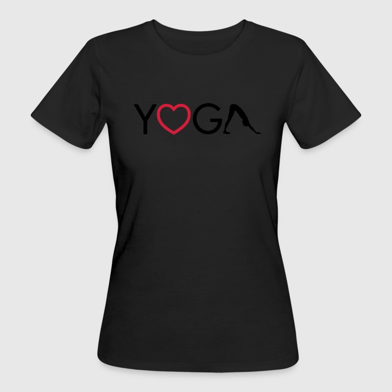 Yoga - Heart - Downward Dog T-Shirts - Women's Organic T-shirt