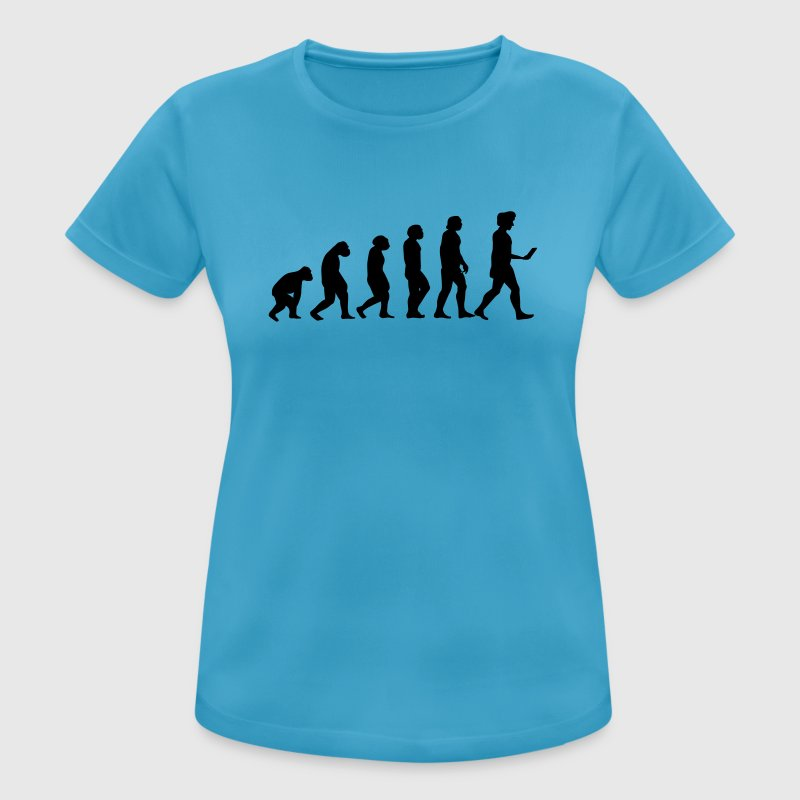 evolution men smartphone evolución ape T-Shirts - Frauen T-Shirt atmungsaktiv