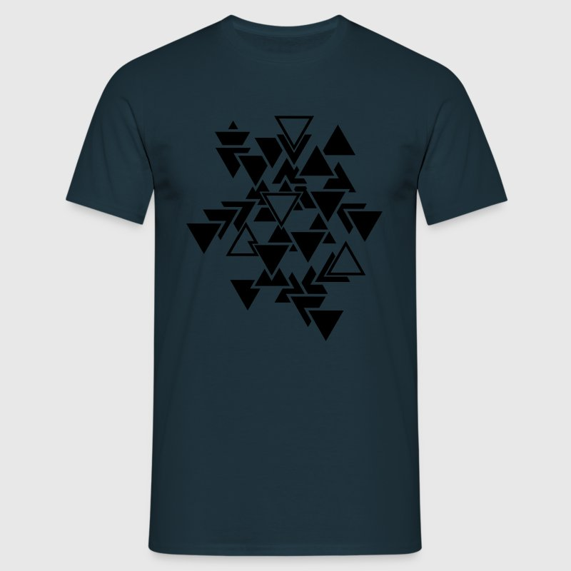 Triangles motif graphique Tee shirts - T-shirt Homme