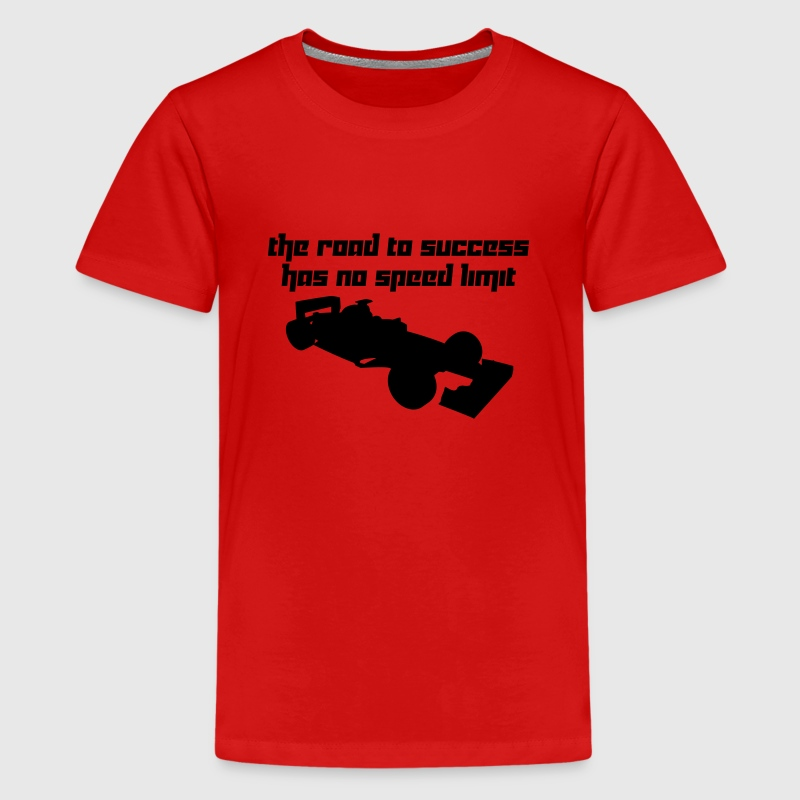 The road to success has no speed limit (Vector) - Teenage Premium T-Shirt