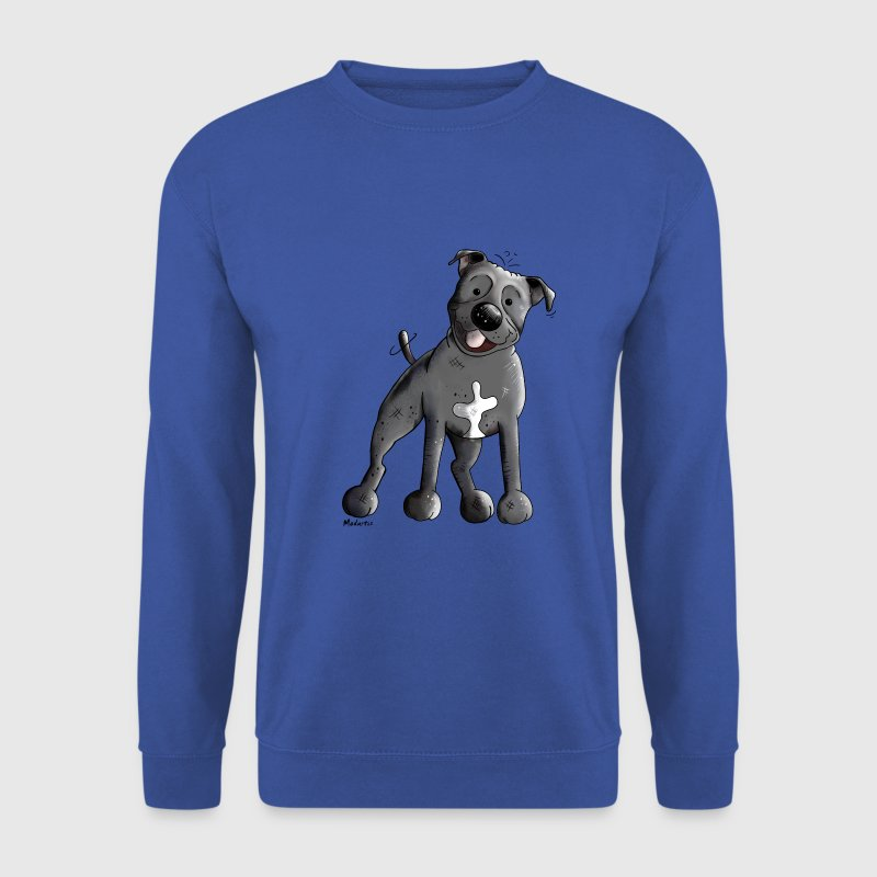 Mignon Staffordshire Bull Terrier Sweat-shirts - Sweat-shirt Homme