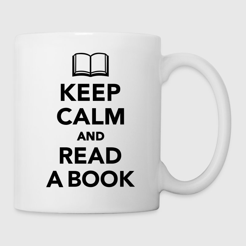 Keep calm and read a book Tassen & Zubehör - Tasse
