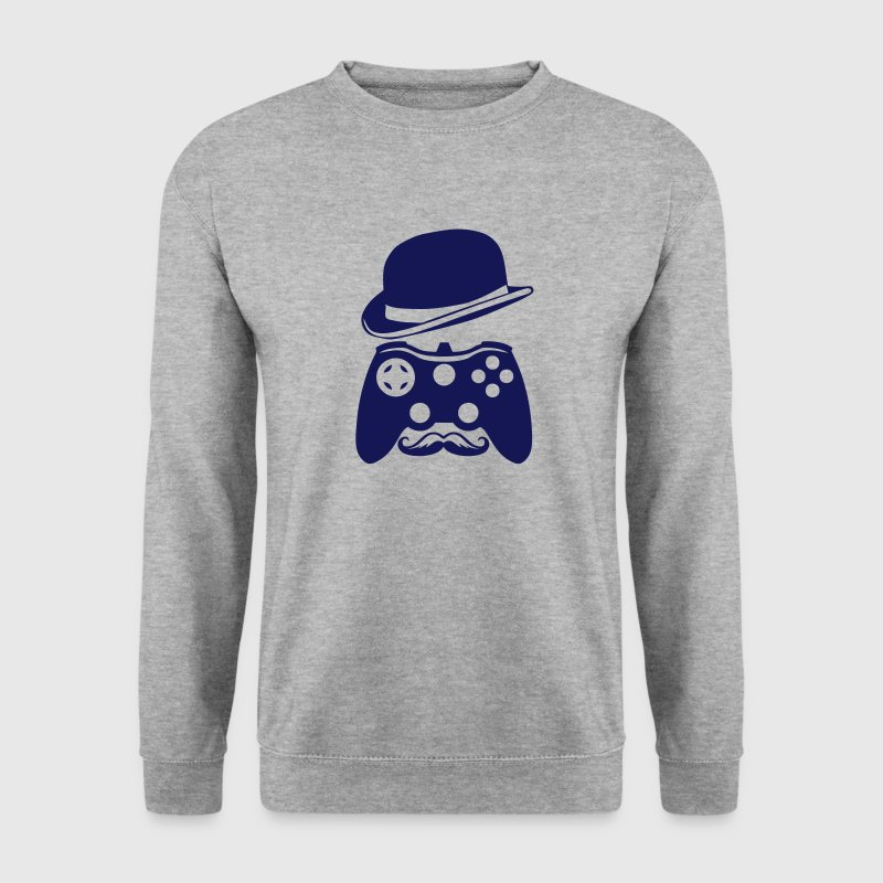 manette chapeau melon moustache personna Sweat-shirts - Sweat-shirt Homme